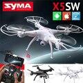 Syma x5sw exploradores 2 2.4 ghz 4ch 6-axis gyro rc fpv sin cabeza Flying Drone RC Quadcopter Drone con cámara HD Cámara de Wifi Negro Blanco
