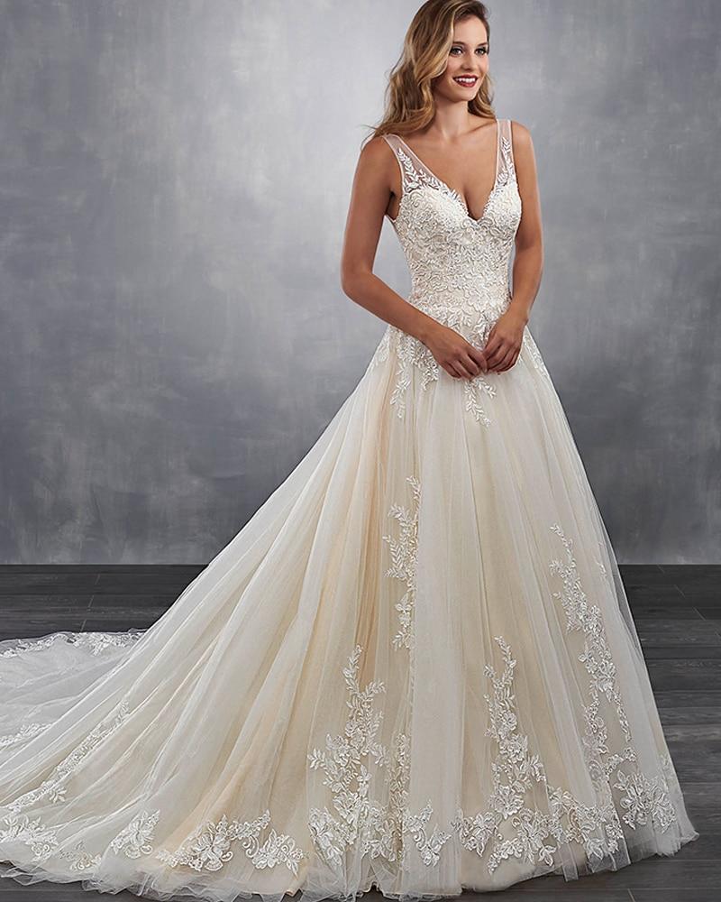 330a63e9a5785 Hochzeitskleid V-neck Wedding Dress Boho 2019 Appliques Abito da Sposa  Backless Brautkleid Tank Shoulder Abito Sposa Bridal Gown ~ Super Sale July  2019