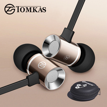 TOMKAS Wired Earphone for iPhone Samsung Xiaomi Phone In Ear Stereo Sound Noise Canceling with Microphone