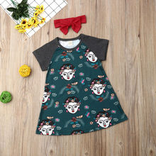 Kids Baby Girl Dress Casual Cartoon Floral Clothing