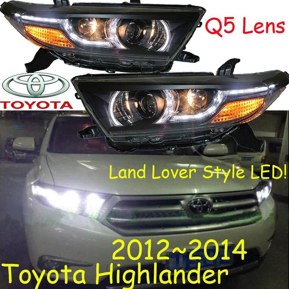 Highlander headlight,2012~2014,2008~2011,Free ship! Highlander fog light,2ps/set+2pcs Ballast,Highlander driver light,Highlander