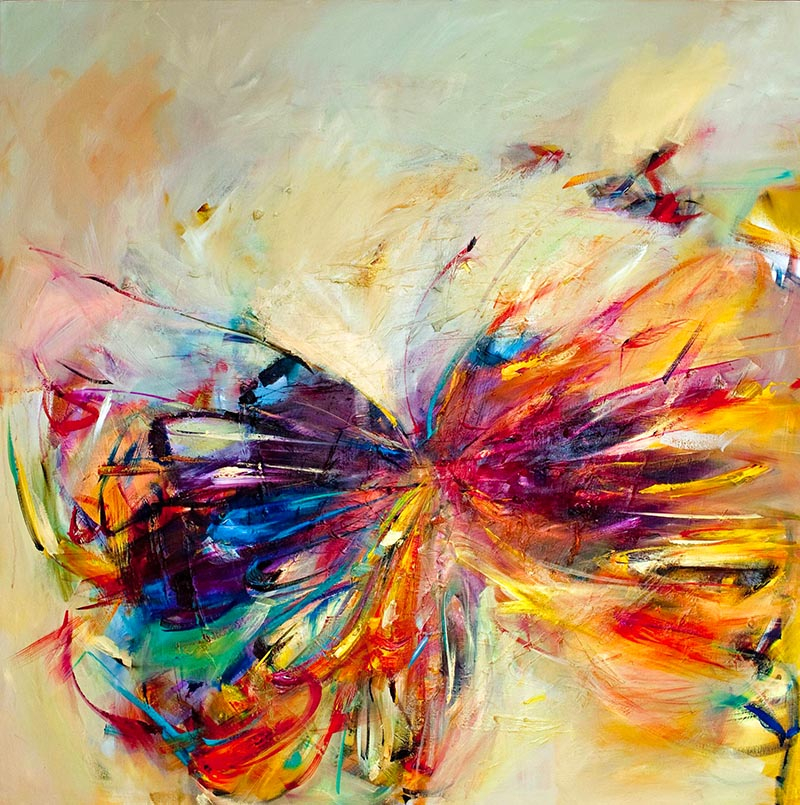 butterfly painting abstract