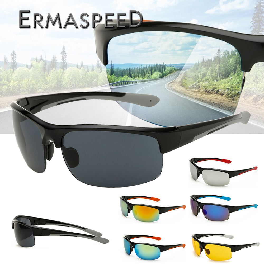 Motorcycle Glasses Road Cycling Clear Vision Glasses Mountain Bike Driving Riding UV Protection Goggles Men Eyewear Sunglasses