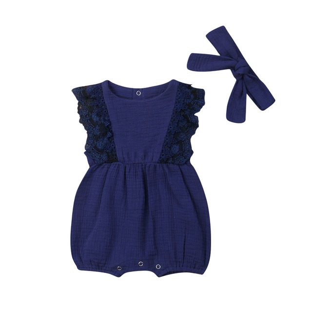Newborn Baby Clothes Lace...