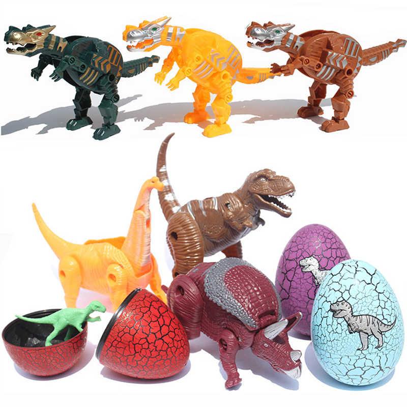 Deformação Dinossauro Dragão Mecânico Simulação Brinquedo Deformação Ovo de Dinossauro Modelo de Dinossauro De Brinquedo de Plástico Menino Presente Surpresa Divertida