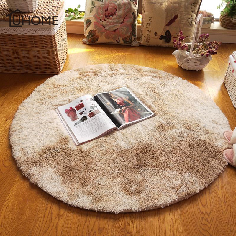 Large Soft Shaggy Round Carpet For Living Room Warm Plush