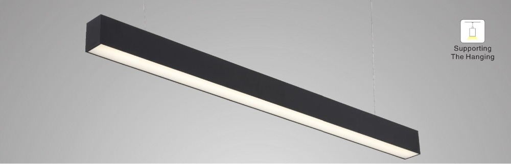 1,8 м/шт. 12 шт./лот черный корпус алюминиевый профиль светодиодный линейный свет с диммируемым драйвером 0 10 в подвесной кабель