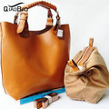 QIAO BAO Women Handbag Genuine Leather Crossbody bag brand Tote Fashion Women Messenger Bags Shoulder Bolsas