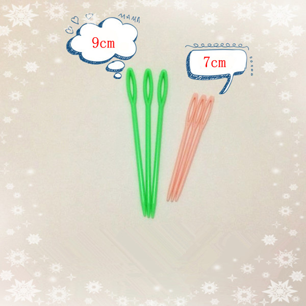 10pcs 2 Size Small Large Childrens Plastic Needles for Sewing SODIAL R