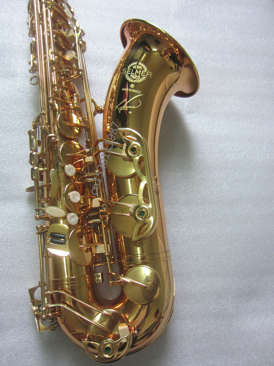 Tenor Saxophone Hot selling High Quality  Selmer Bb  Instruments Super Action 54 Series II Brass Gold Surface Saxophone france henri selmer bb tenor saxophone instruments reference 36 drop b saxophone surface gold lacquer pink body professional sax