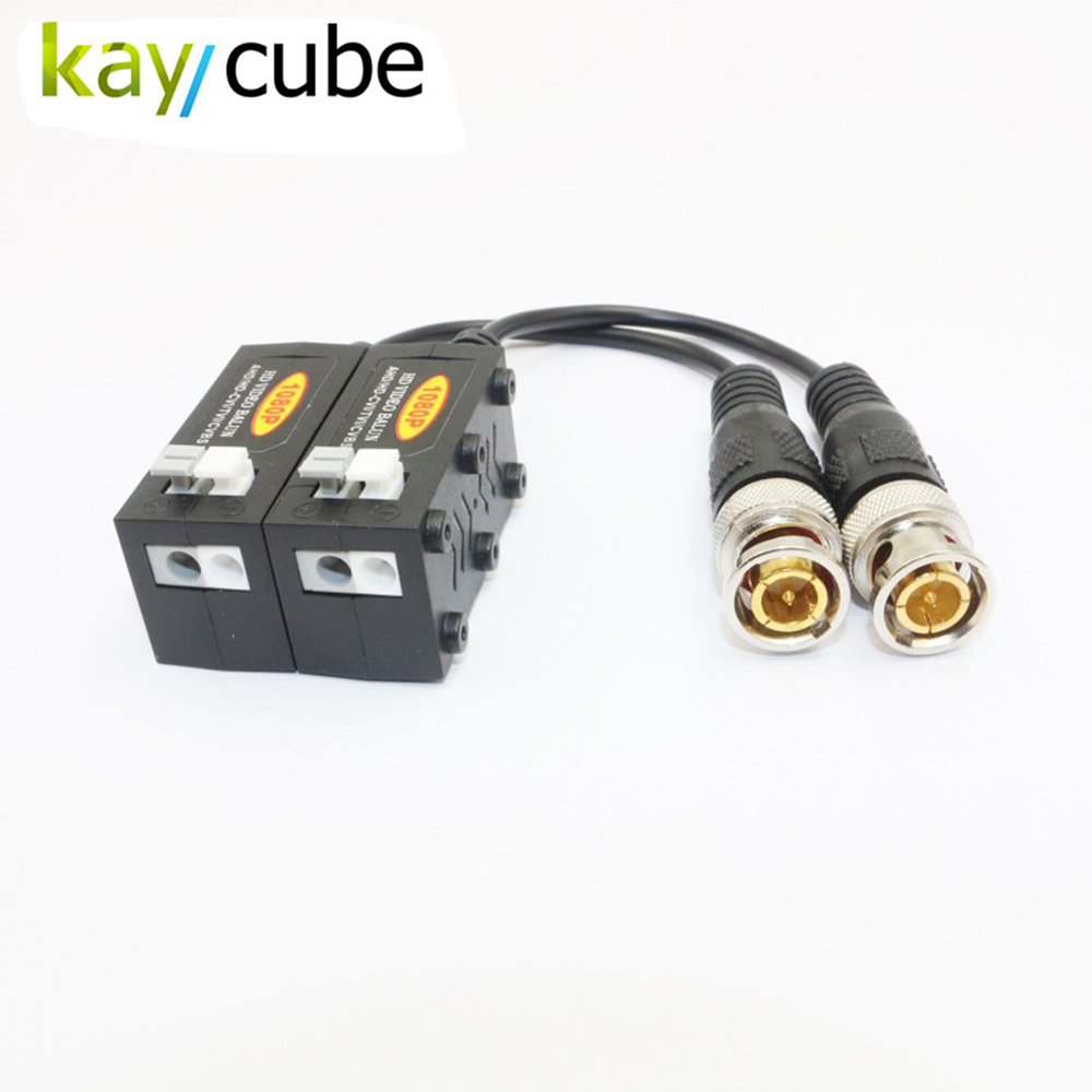 Video Balun Support HD-CVI HD-TVI HD-AHD CVBS 75 Ohm To 120 Ohm Balun Converter hd