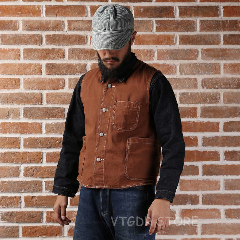 Bronson Reproduction 1873 Nevada Gold Rush Canvas Vest Vintage Men's Waistcoat