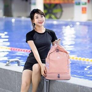 Image 5 - 独立した靴のバックパック服パッキングキューブトラベルオーガナイザーバッグ防水大容量学生バッグスクールポーチアクセサリー