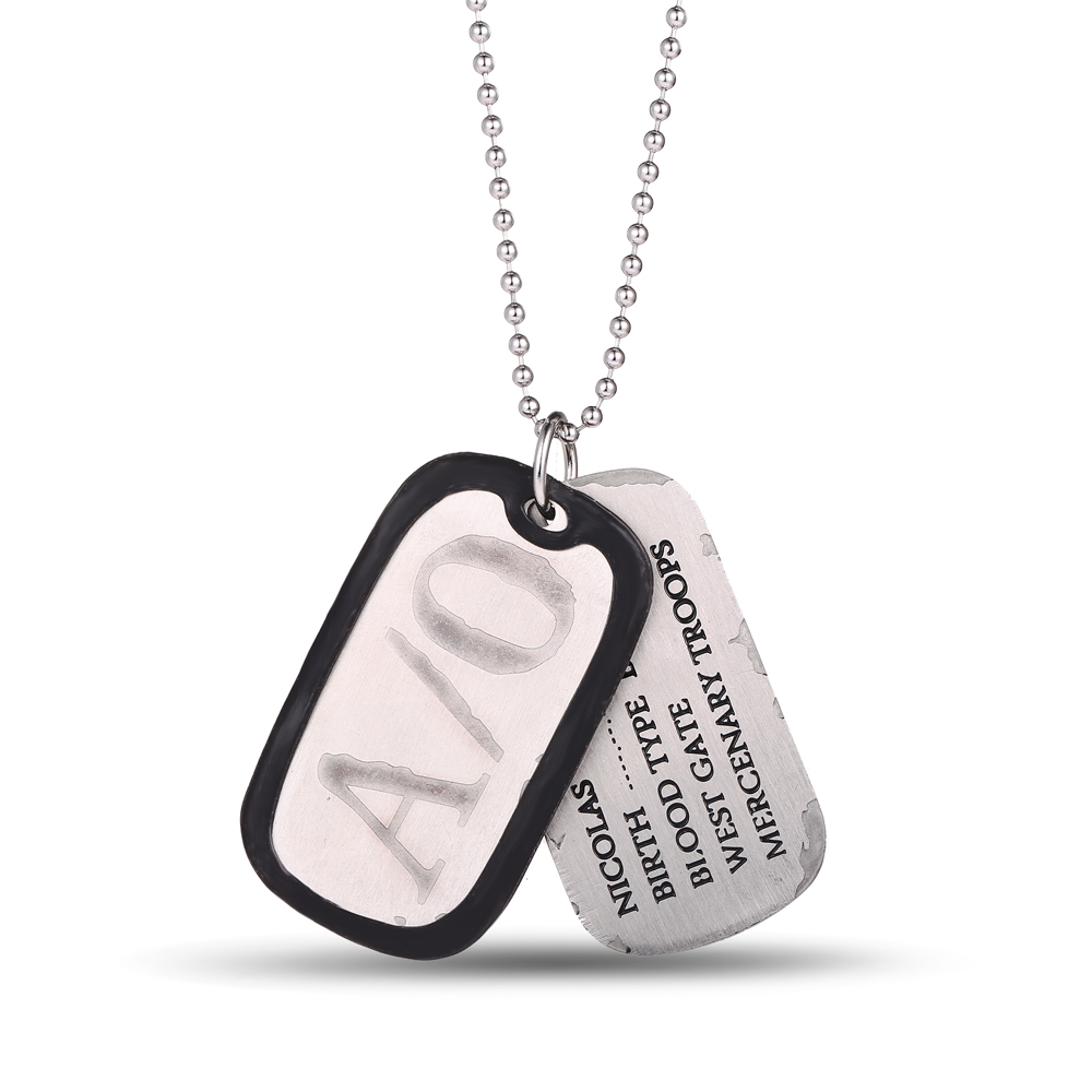 MS juvelierizstrādājumi Dāvanas Juvelierizstrādājumi Anime A / O GANGSTA Nicolas Brown Dog Tags Pendant Necklace Cosplay Fans Promotion Dropshipping