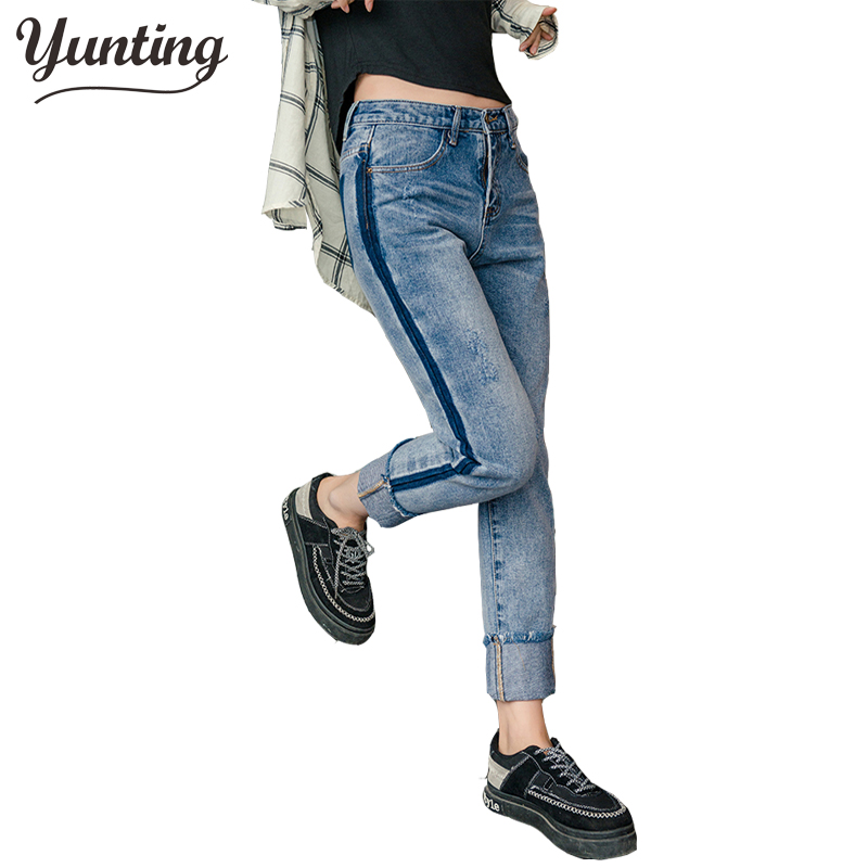 Spring New Women Jeans Slim  Straight Trousers Ladies Fashion Ankle-Length Casual Jeans