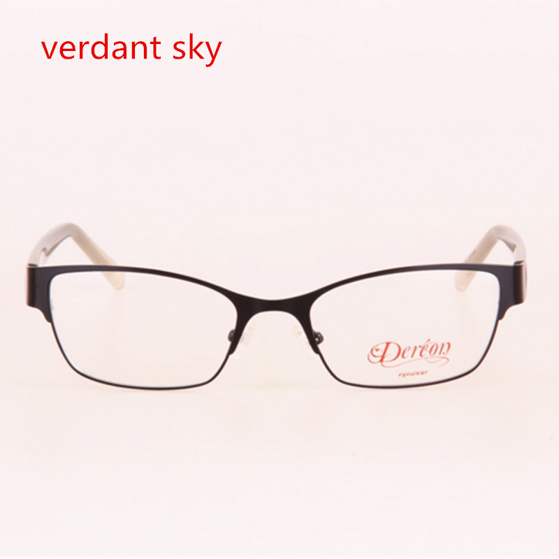 2017 Women 3 color Spectacles Computer Myopic Glasses Stainless Steel Frames Flora TR90 Legs High-end Female Grade Glasses