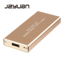 Jzyuan USB 3.1 Тип C к NGFF M.2 внешний SSD Корпуса для жёстких дисков жесткий диск конвертера адаптер Корпус внешнего золото
