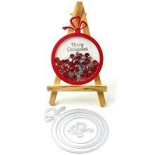 Рождественский орнамент шейкер карты металлические режущие штампы для DIY Скрапбукинг/изготовление открыток/Детские забавные украшения