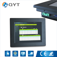 Optional 12 Inch 8GB DDR3 64G SSD Embedded Industrial Computers Touch Fanless Mini Pc With HDMI