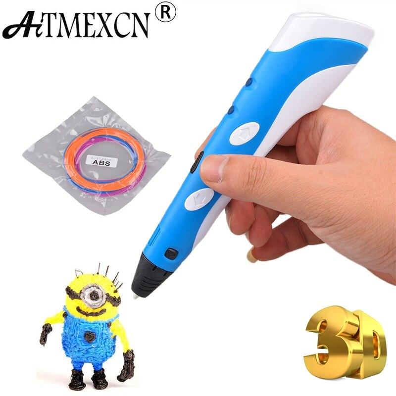 Aitmexcn 3D stylo bricolage dessin 3D stylo d'impression avec Filament ABS pour enfants anniversaire noël cadeau magique 3D imprimante stylo