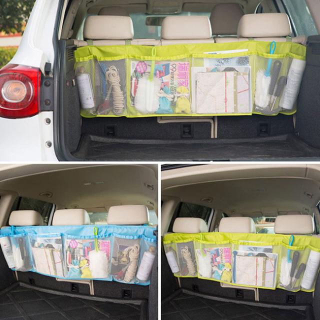 Car large capacity sundries storage bag car seat hanging bag car trunk storage bag simple finishing package Stowing Tidying