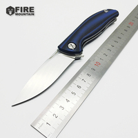 BMT Bear Tactical Folding Knife Ball Bearings Flipper G10 Steel Handle Camping Knives Outdoor Survival Knife