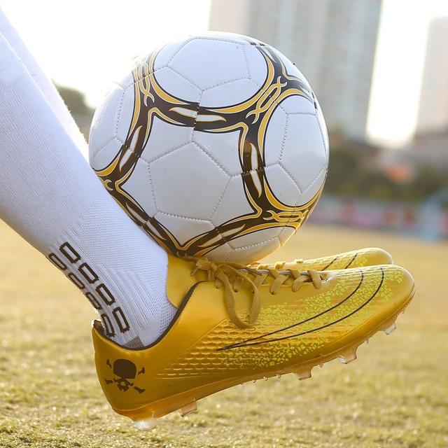Men Boy Kids Soccer Cleats Turf Football Shoes Hard Court Sneakers Trainers New Design Boots Futsal botas de futbol Size 34-44