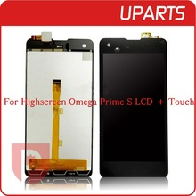 New Original For Highscreen Omega Prime S LCD Display + Touch Screen Assembly LCD Digitizer Glass Panel Replacement