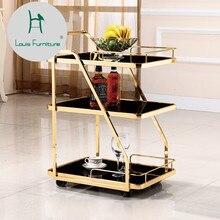 Луи Мода Тележка из нержавеющей стали Dim Sum закаленное стекло Ресторан высокого качества напитки чай и вода