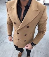 Latest Coat Pant Designs Khaki Tweed Men Suit Skinny Winter Tuxedo Prom Wedding Blazer Style Gentle Tailor Made 2 Piece Terno er