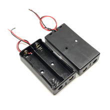 30pcs/lot MasterFire New Box Holder For 2 x 18650 Black With Wire Leads Plastic Battery Storage Case Cover