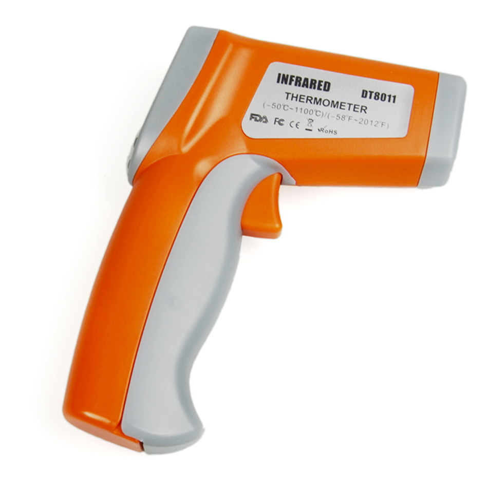 DT8011  Industrial High Temperature Instrument Non-Contact Infrared Thermometer with Two Laser and Alarm -50~1100 C tasi 8606 infrared thermometer 32 380 degrees infrared thermometer non contact thermometer industrial and household