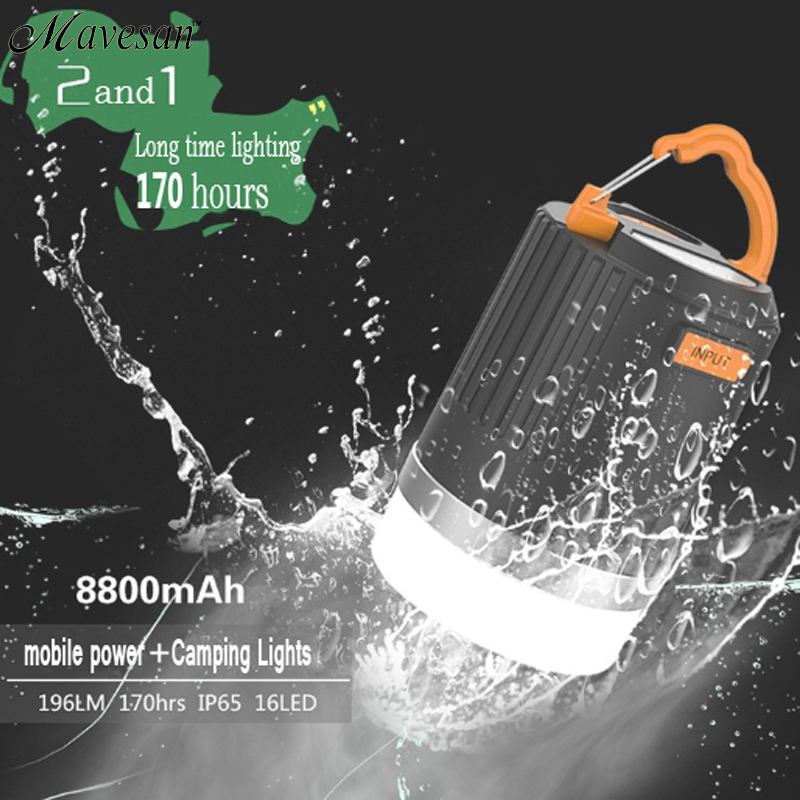 ФОТО Hot Sale! High Lumens Portable Outdoor Camping Lantern Hiking Tent LED Light Campsite Hanging Lamp Emergency with Handle