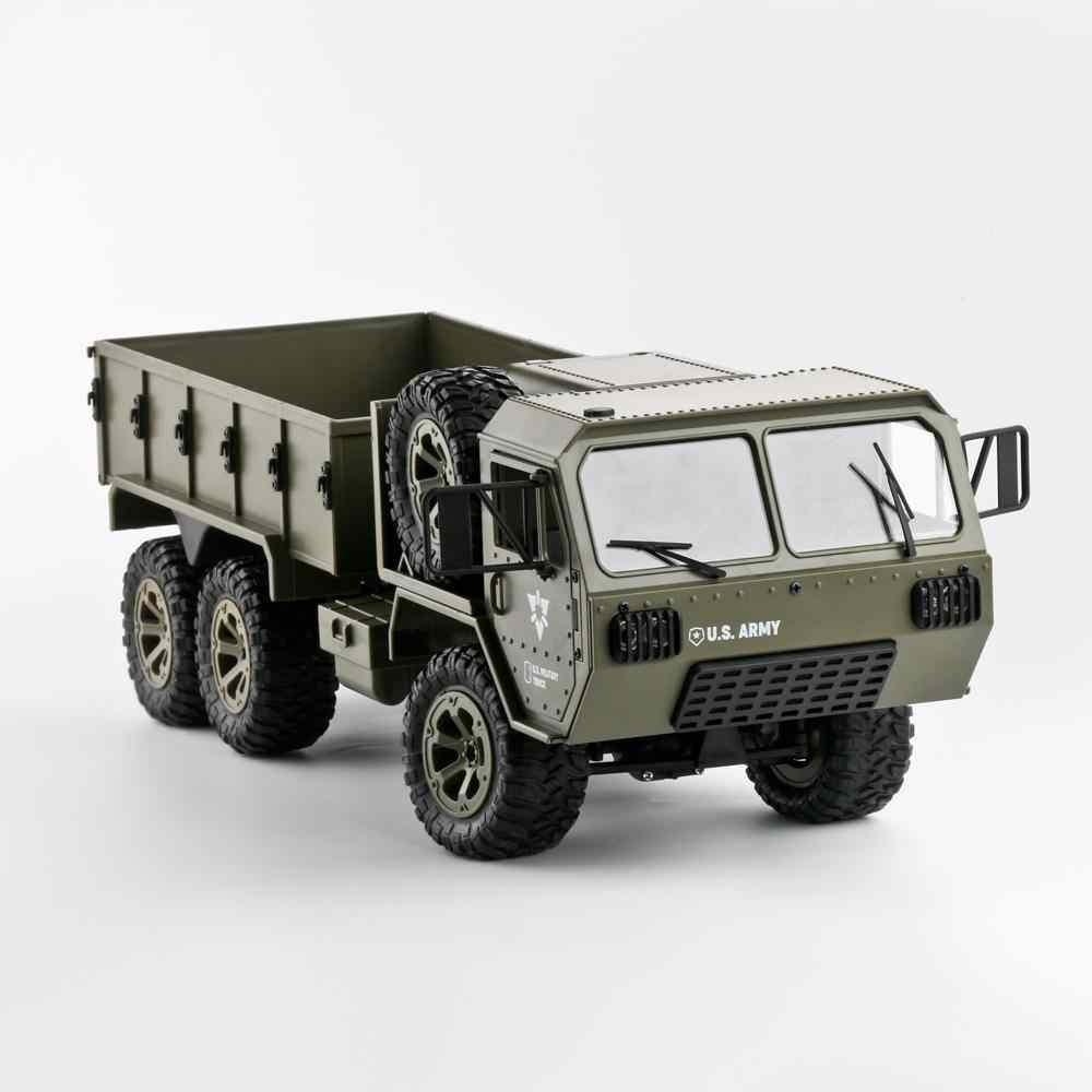 RCtown Fayee FY004A 1/16 2.4G 6WD Rc سيارة التحكم النسبي الجيش الأمريكي شاحنة عسكرية RTR نموذج اللعب