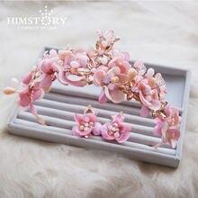 Набор с тиарой himstory набор и розовыми кристаллами