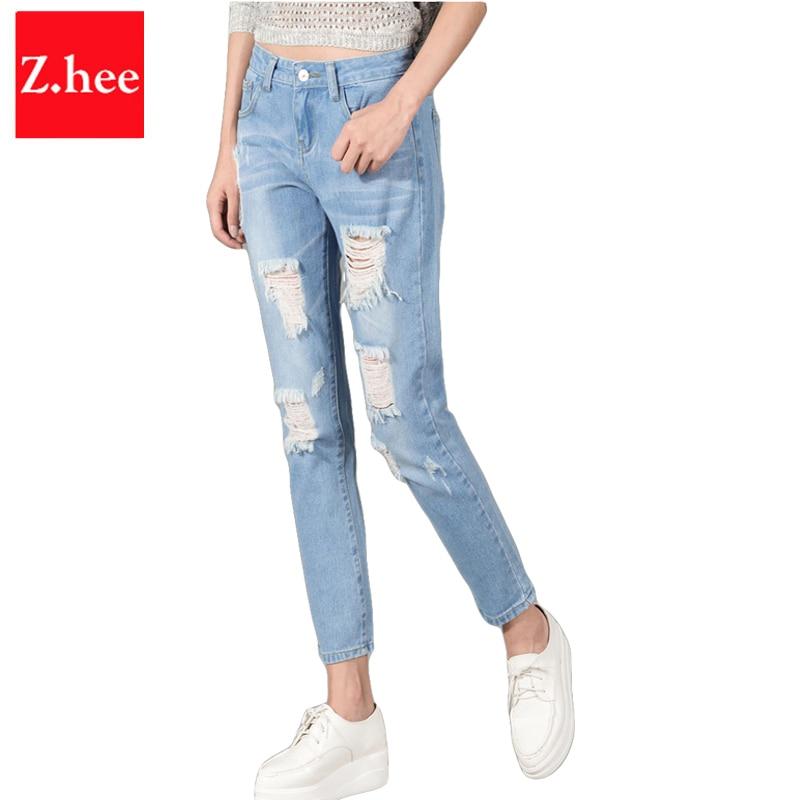 Aliexpress.com : Buy Distressed Skinny Ripped Jeans Women Retro ...