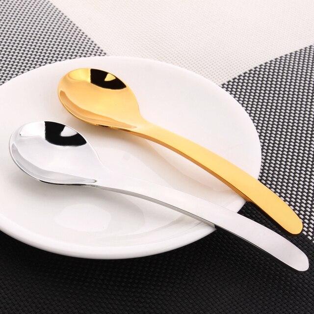 1 Шт. 304 Нержавеющая Сталь Позолоченные Ложки Традиции Китайской Длинной Ручкой Суп Чай Кофе Десертная Ложка Кухонные Принадлежности