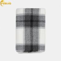 POBING Luxury za Brand Tartan Plaid Cashmere Scarf Women Scarves Shawl Wraps Soft Warm Winter Blanket Pashmina Lady Cape Stoles