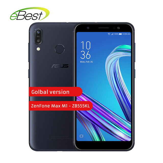 ASUS ZenFone Max M1-ZB555KL Smartphone 5.5 Inch 4000mAh 2/3GB 16/32GB Mobile Phone Dual Rear Camera 13MP+8MP Android Cellphone