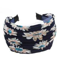 10x( 2016 Womens Girls Cloth Wide Headband Hair Head Band Navy Blue Gift