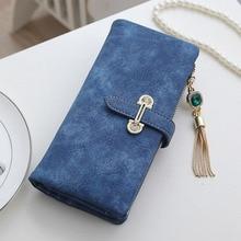 Tassel Soft Matte Zipper  Women's Wallet