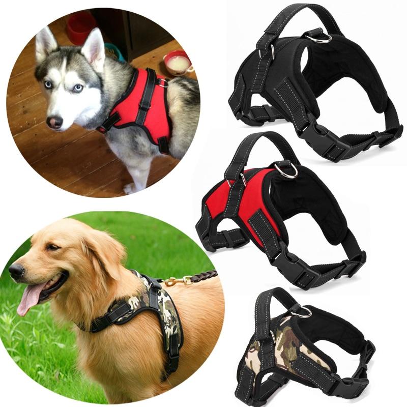 4 farben Pet Großen Hund Harness S/M/L/XL/XXL Weichen Einstellbare Harness Pet Spaziergang aus Hand Strap Weste Kragen Für haustier Hund spielzeug