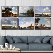 Home Decoration Art Wall Pictures Fro Living Room Poster Print Canvas Paintings Netherlandish Salomon Van Ruysdael