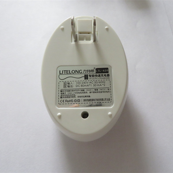 Litelong $ number puertos cargador de batería recargable de 9 v li-ion 9 v envío gratis