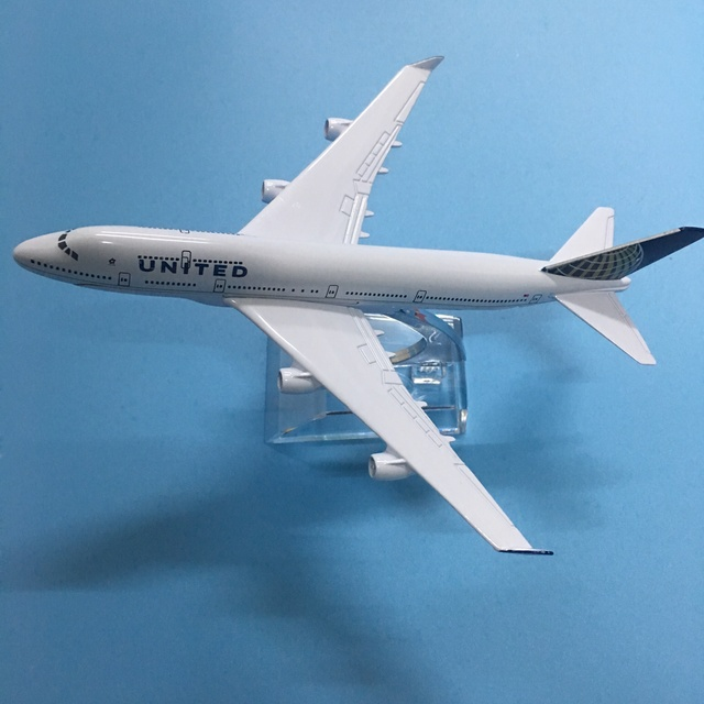 American Air United Airlines Boeing 747 B747 400 Airways 16cm Alloy Metal Plane Model Aircraft Airplane Model w Stand Gift 5