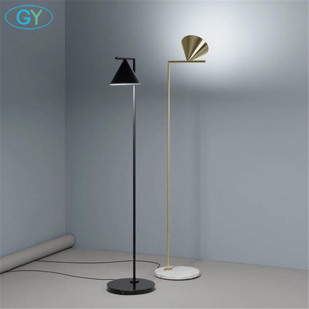 Modern Gold Black Nordic floor <font><b>lamp</b></font> living room Ins bedroom postmodern E27 marble <font><b>standing</b></font> lighting for living room bedroom image