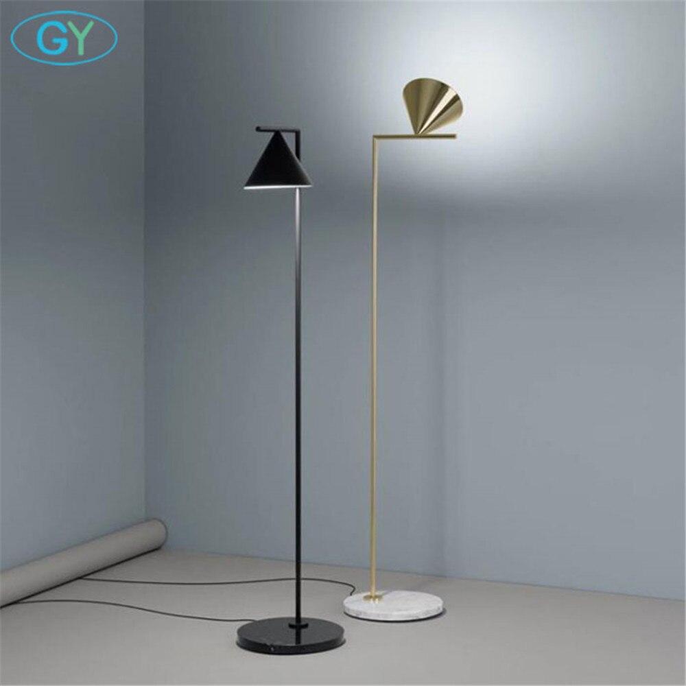 Moderna Oro Nero Nordic Lampada da Pavimento Del Salotto Ins Camera da Letto Postmoderna E27 Marmo in Piedi di Illuminazione per Soggiorno Camera da Letto