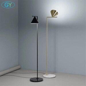 Image 1 - Moderna Oro Nero Nordic lampada da pavimento del salotto Ins camera da letto postmoderna E27 marmo in piedi di illuminazione per soggiorno camera da letto