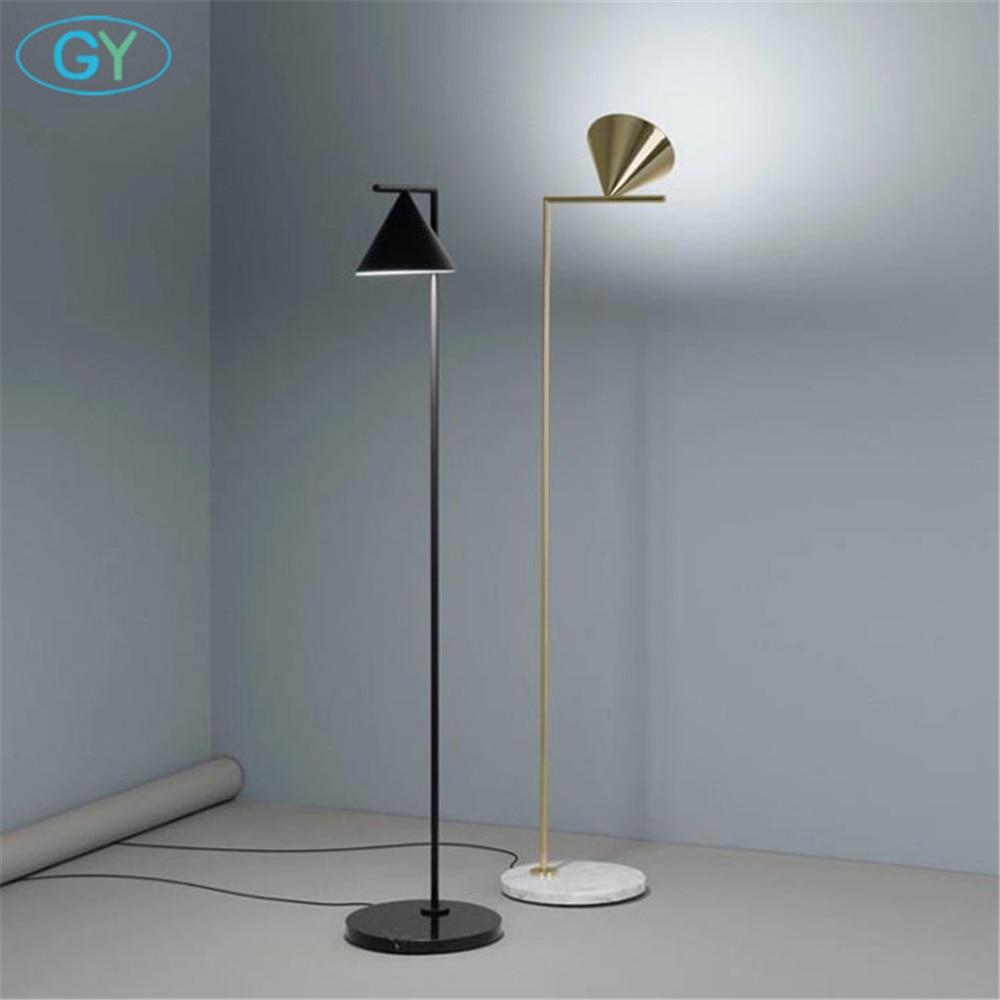 Nowoczesny ze złota czarny Nordic lampa podłogowa salon Ins sypialnia postmodernistyczna E27 marmurowe oświetlenie stojące do salonu sypialni