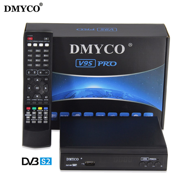 [Genuine] Newest V9S PRO DVB-S2 Satellite Receiver V9S PRO Support PowerVu Biss Key Newcamd Youtube DVB-S2 Satellite Receiver